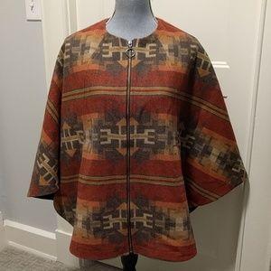 Pendleton wool Aurora Jacquard cape